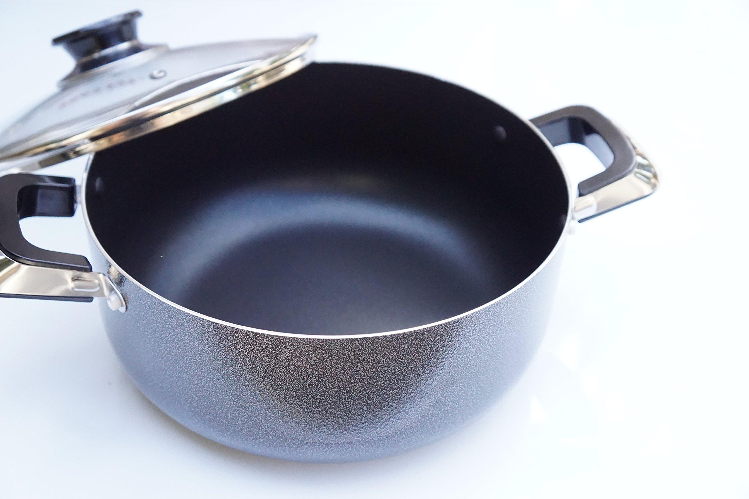 Home N Kitchenware Collection 4-Quart Aluminum Pot Stockpot w/ Glass Lid