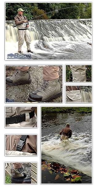 BISON vadeador transpirable con botas