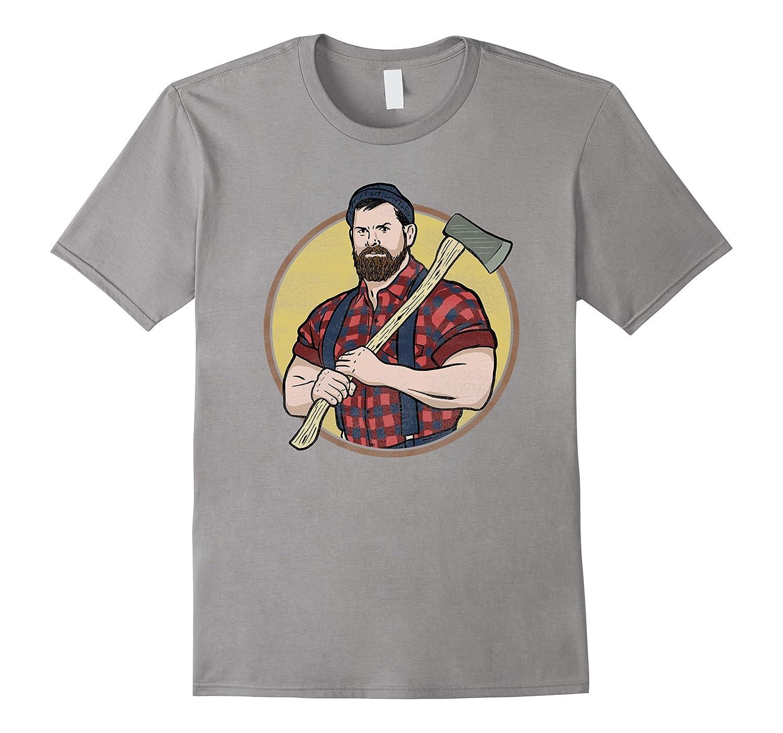 Retro Lumberjack Tribute T Shirt Logger Woodman Cool Graphic-CD