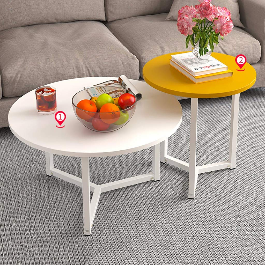 Garde Side Table, Simple Mini Modern Home Small Coffee Table, Creative Casual Negotiation Small Table (Two Sets) (Color : A) by Garde