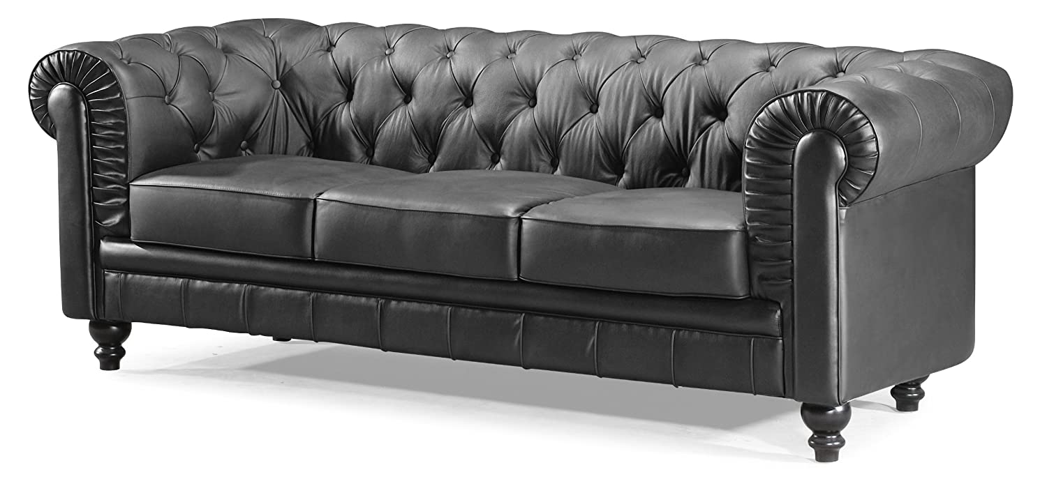 Chesterfield sofa modern  Amazon.com: Zuo Modern Aristocrat Sofa, Silver: Kitchen & Dining