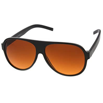 plastic aviator sunglasses cheap  Amazon.com: zeroUV - Retro 80s Tear Drop Plastic Aviator ...