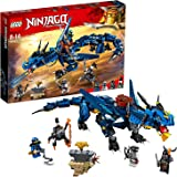 LEGO NINJAGO Masters of Spinjitzu: Stormbringer 70652 Ninja Toy Building Kit with Blue Dragon Model for Kids, Best Playset Gift for Boys