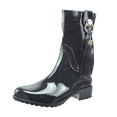 2a0bfeef462ac Sopily - Women s Fashion Shoes Ankle boots - Booty - mid-calf - wellignton -