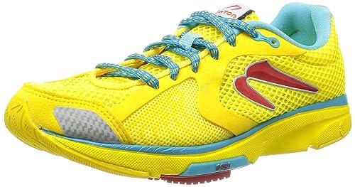NEWTON Distance III Zapatilla de Running Señora, Amarillo/Rojo, 37 ...