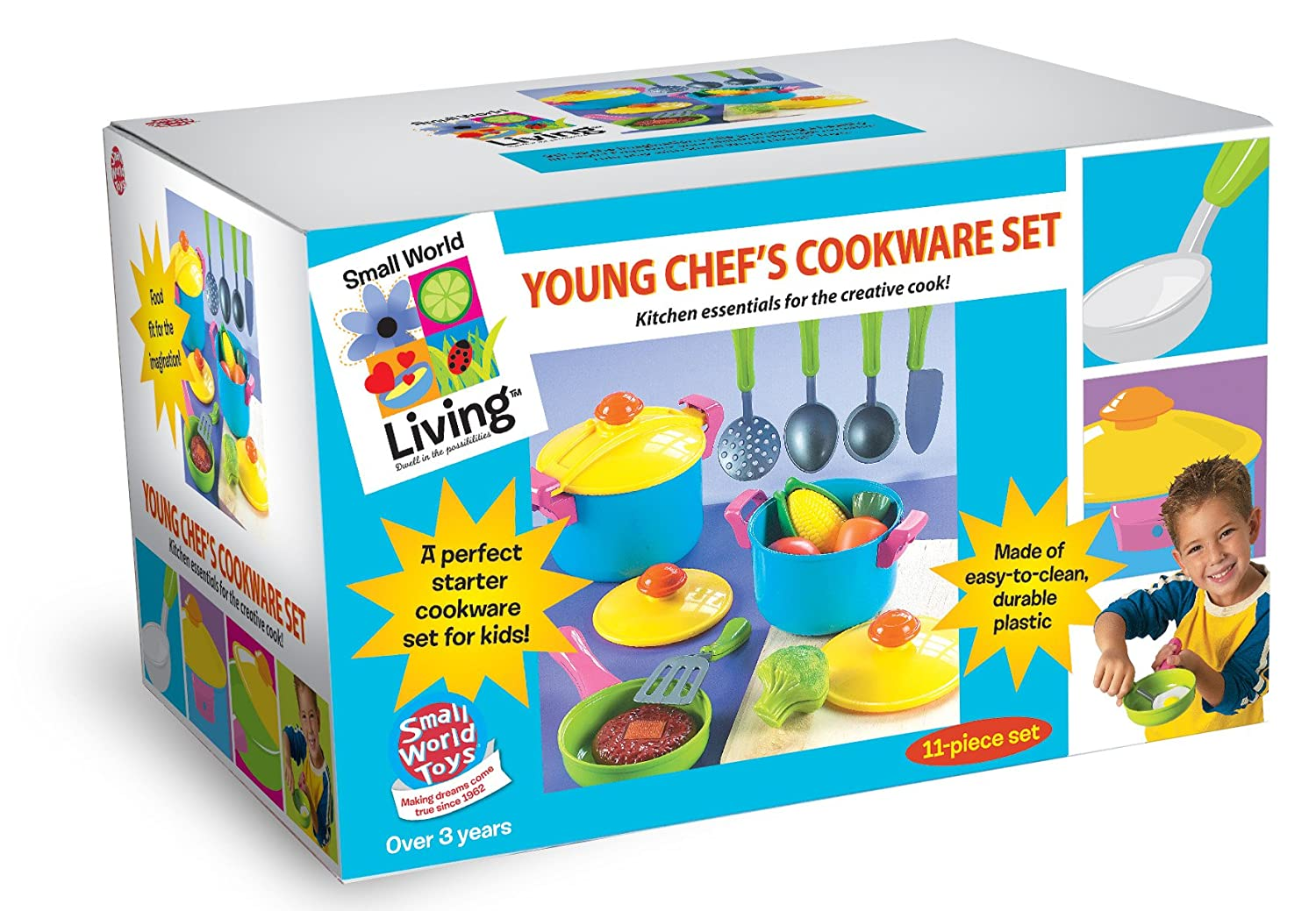 Amazon.com: Small World Toys Living - Young Chef Cookware 11 Pc ...