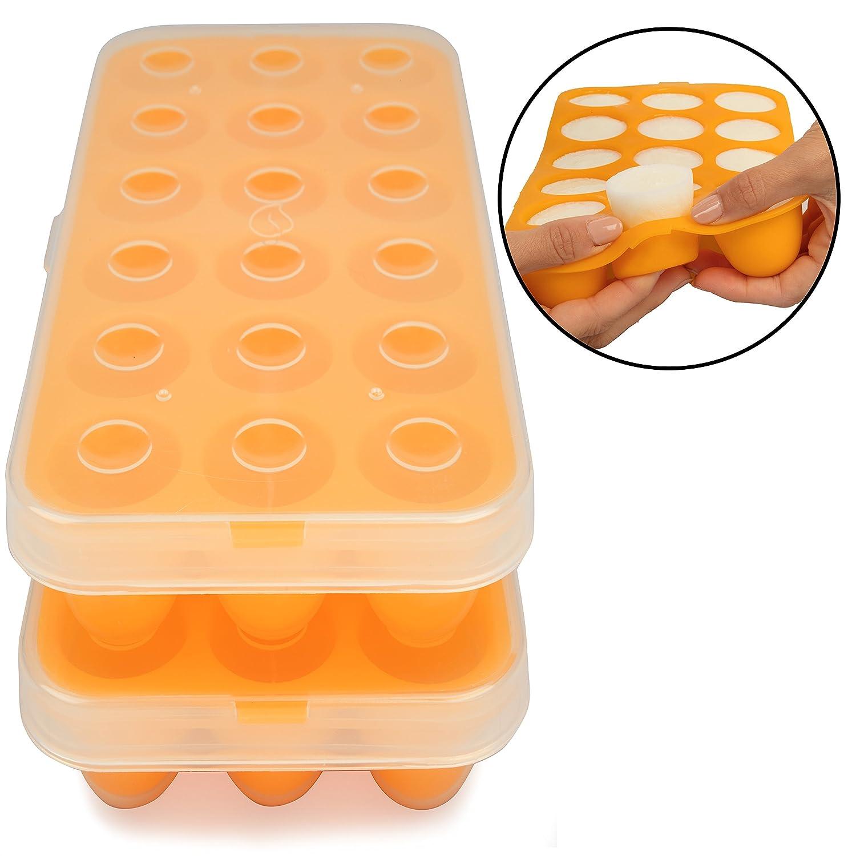 【楽ギフ_包装】 Baby Food Storage Tray - Storage Silicone Pop Out Little Baby Portion Freezer Tray - Breast Milk and Food Storage Made Easy by Little Sprout B00IYTTO2Y, MUSICLOVE:d7102518 --- a0267596.xsph.ru