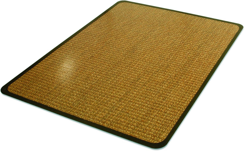 Deflecto DuraMat Decorative Chair Mat, Low Pile Carpet Use, Rectangle, Straight Edge, 36 x 48 Inches, Band Sisal Print CM13142CBS