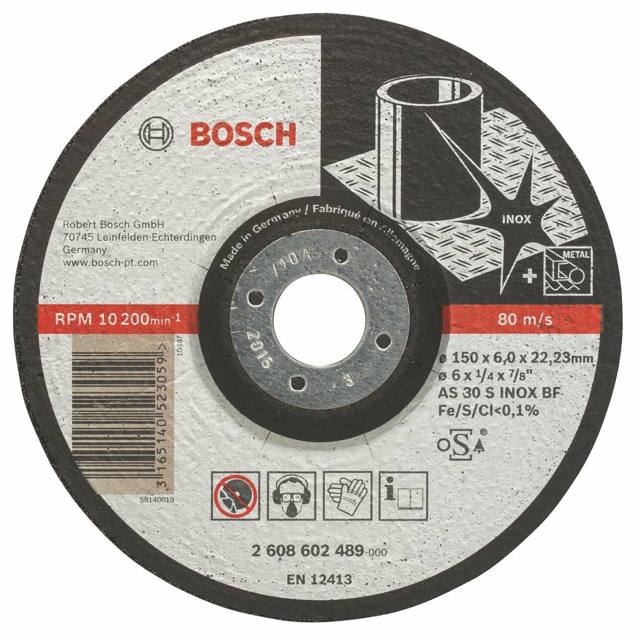 Bosch 2608602489 150MM Stainless Steel INOX Grinding DISC