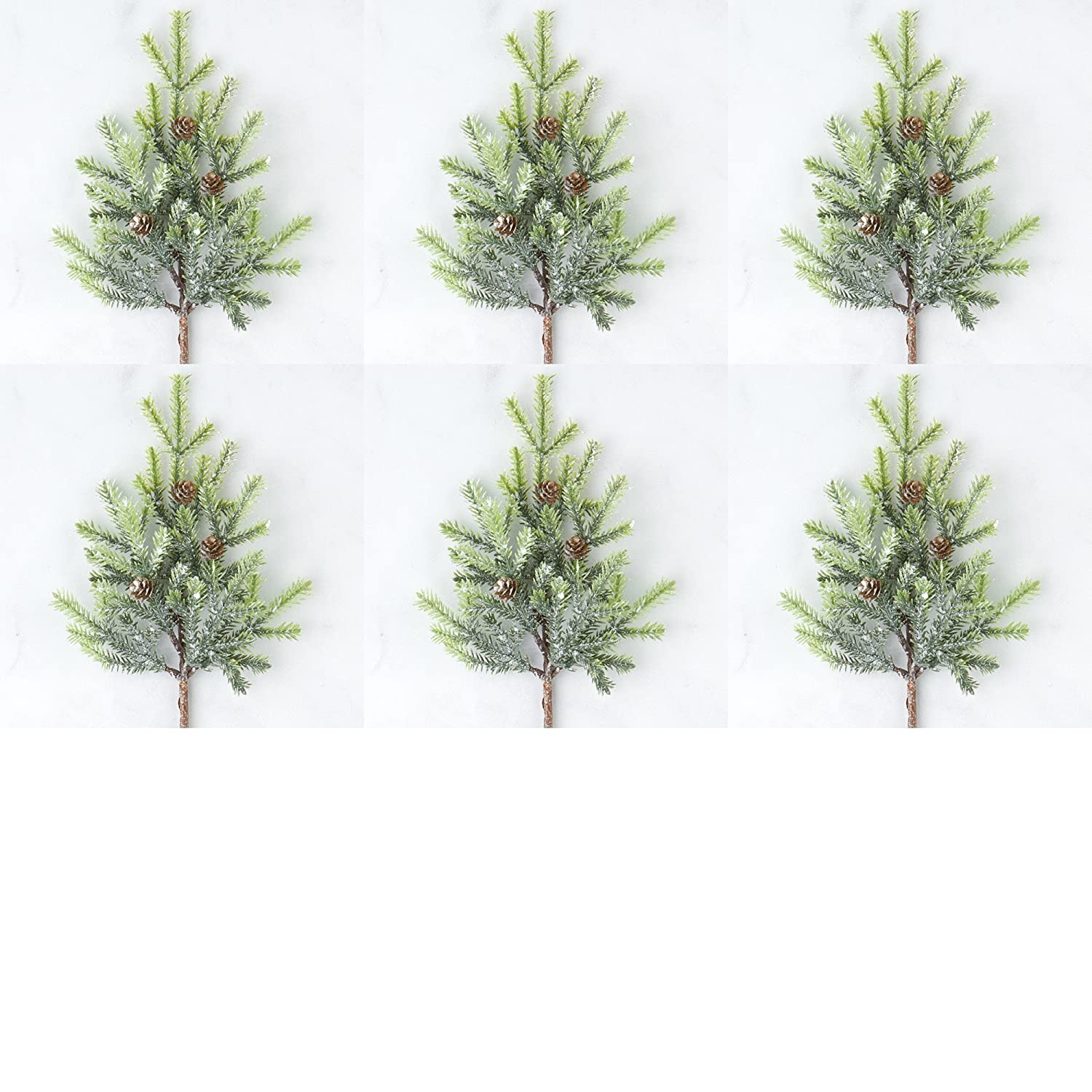 Factory Direct Craft Artificial Frosted Cypress Pine Sprays (6 Stems)
