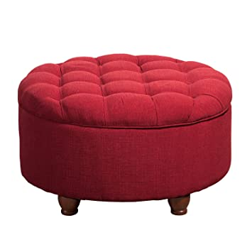large ottoman with storage canada upholstered round tufted removable top red buy table