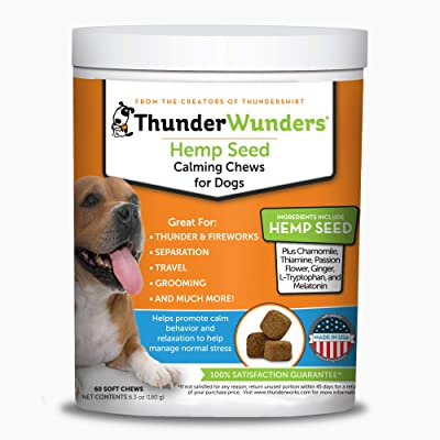 ThunderWunders Hemp Dog Calming Chews