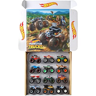 Hot Wheels Monster Trucks Ultimate Chaos 12 Pack, 1: 64 Vehicles [ Exclusive]: Toys & Games