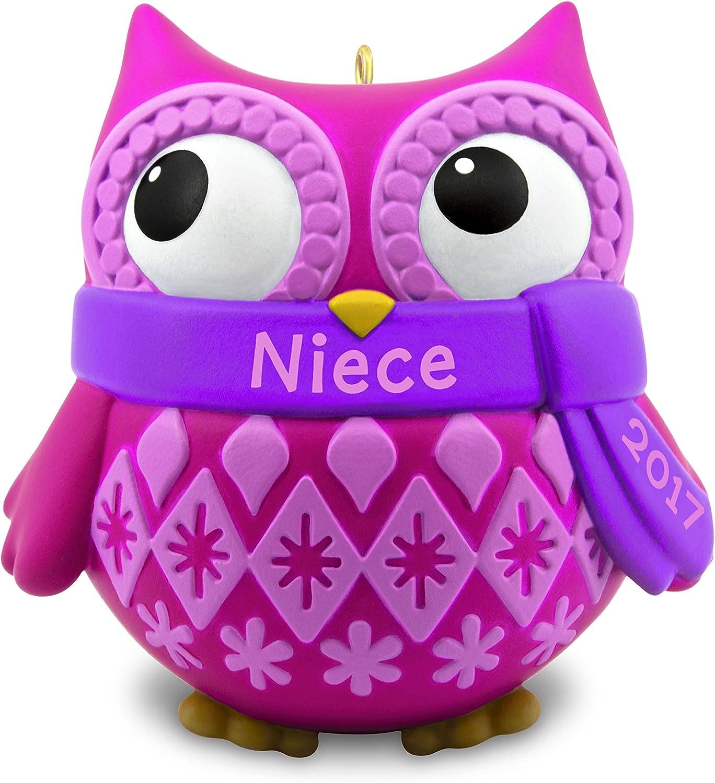 NEW Hallmark Ornament 2019 NIECE girl Heart in box HEDGEHOG