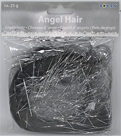 Angel Hair Christmas Tree Decoration.Metallic Silver Angel Hair Tinsel Lametta 25g Christmas Xmas Decoration Shredded Tinsel Decorate Tree 25 Gram Bag