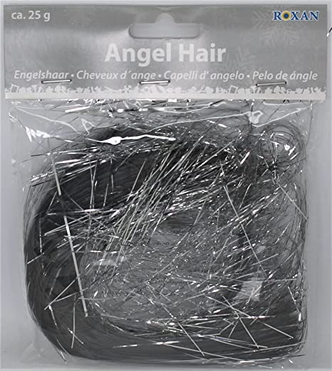 metallic silver angel hair tinsel lametta 25g christmas xmas decoration shredded tinsel decorate tree 25 gram - Angel Hair Christmas Decoration
