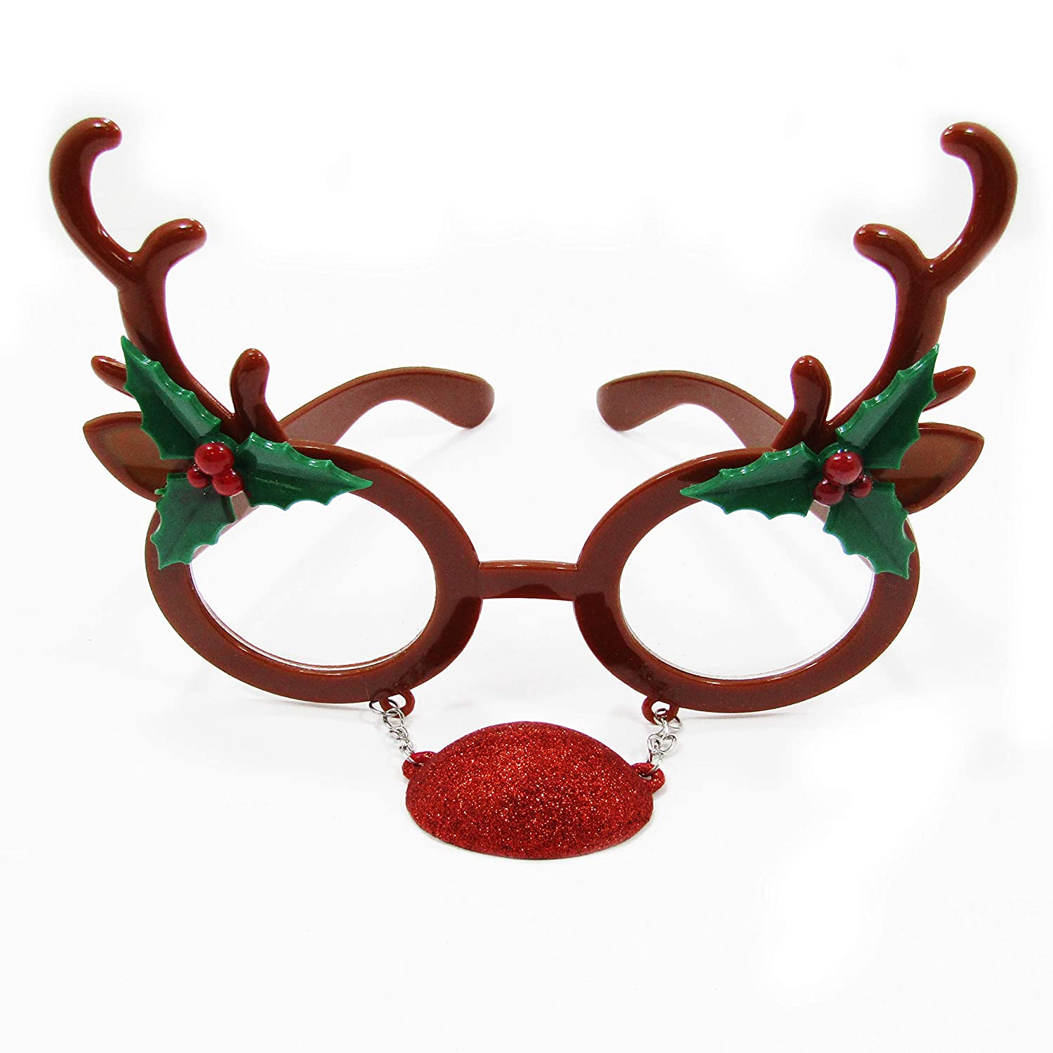 Unisex Elf Reindeer Christmas Holiday Novelty Party Glasses All Ages 377440-87