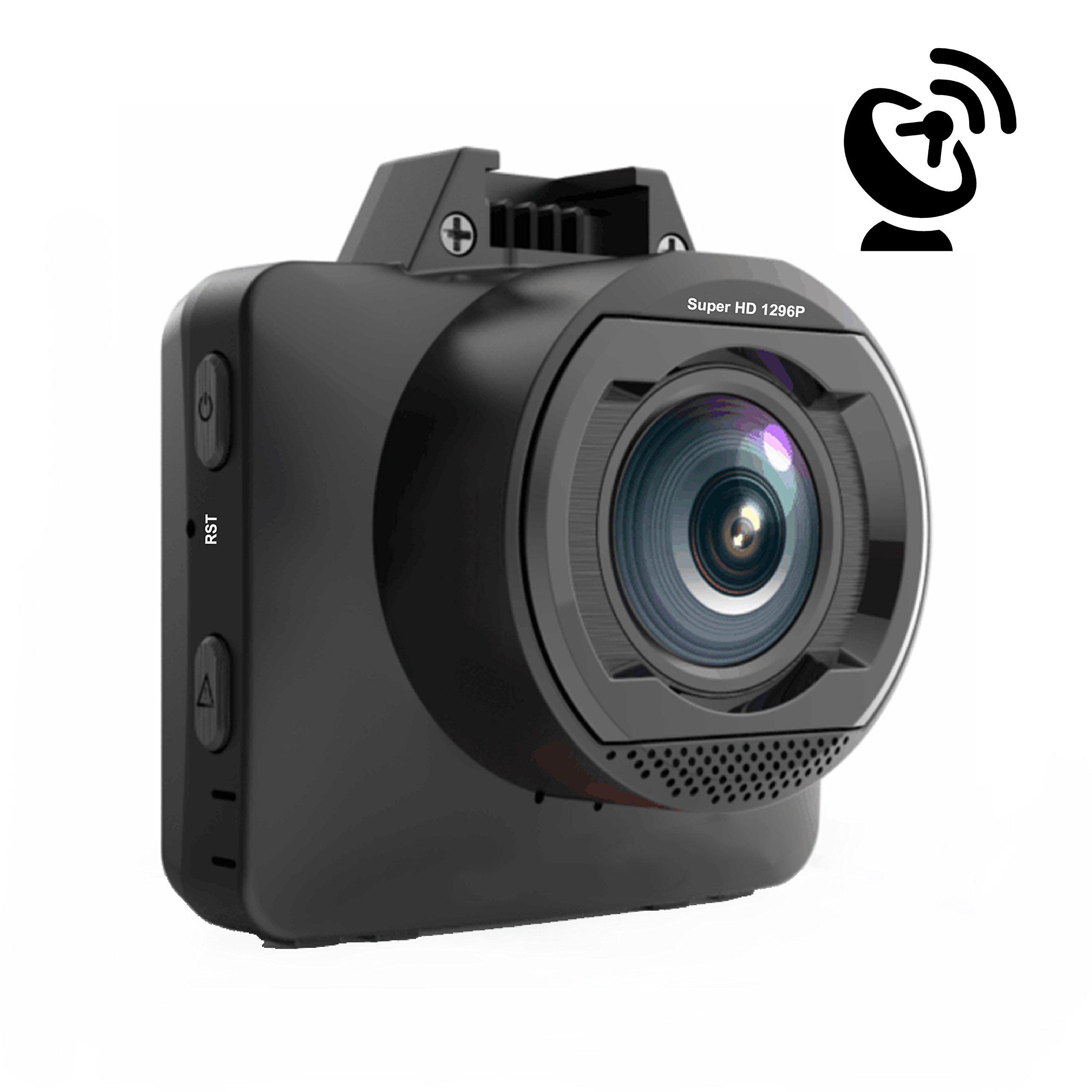 EBORN 170 Degree Dash Cam with GPS ,Mini 2 inch Vehicle Dashboard Camera Recorder DVR ,1296P 1080P Super HD,Night Vision,ADAS,Parking Monitor ,WDR