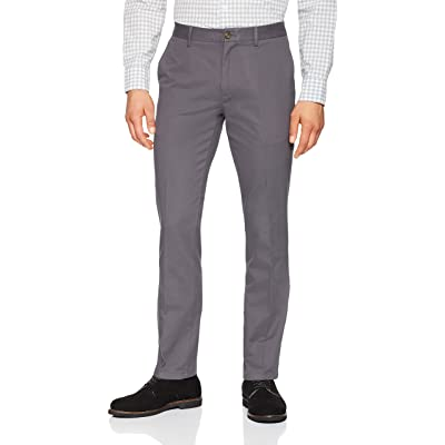 Essentials Men's Slim-Fit Wrinkle-Resistant Flat-Front Chino Pant: Clothing