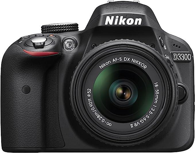 Câmera Digital Nikon DSLR D3300 24 MP 18-55mm LCD 3.0