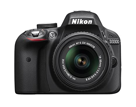 Nikon D3300 24.2 MP CMOS Digital SLR with AF S DX NIKKOR 18 55 mm f/3.5 5.6G VR II Zoom Lens  Black  Point   Shoot Digital Cameras