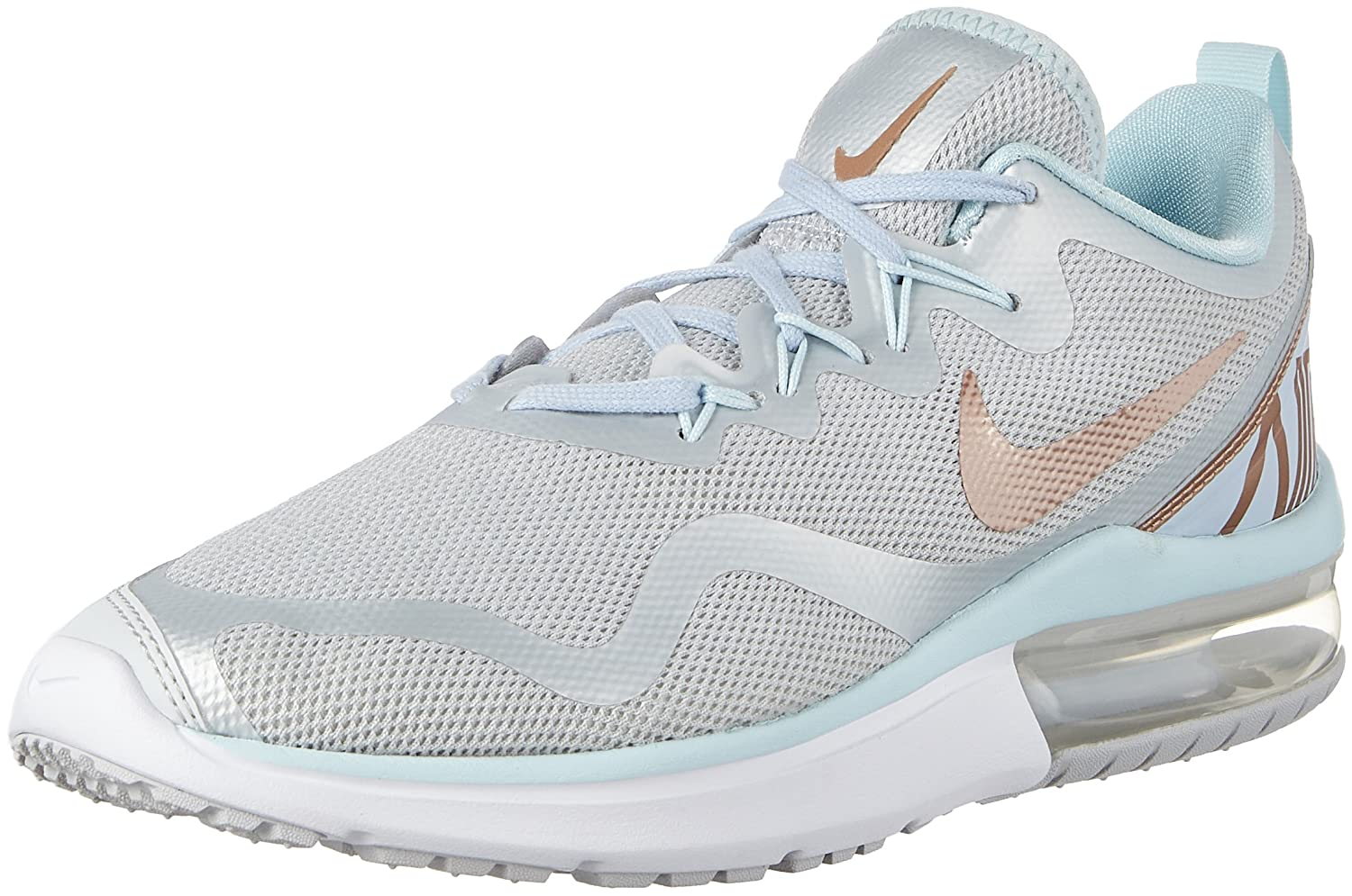 0f65fc2bcec775 Nike Women s Shoes Air Max Fury Sneakers Pure Platinum Metallic Red Bronze  Glacier Blue AA5740 005