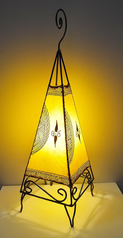Lámpara de suelo o de mesa marroquí de henna- forma Pirámide ...