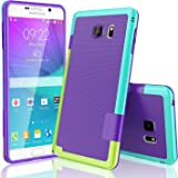 TILL Galaxy Note 5 Case, (TM) Ultra Slim 3 Color Hybrid Impact Anti-Slip Shockproof Soft TPU Hard PC Bumper Extra Front Raised Lip Case Cover for Samsung Galaxy Note 5 V SM-N920 [Purple]