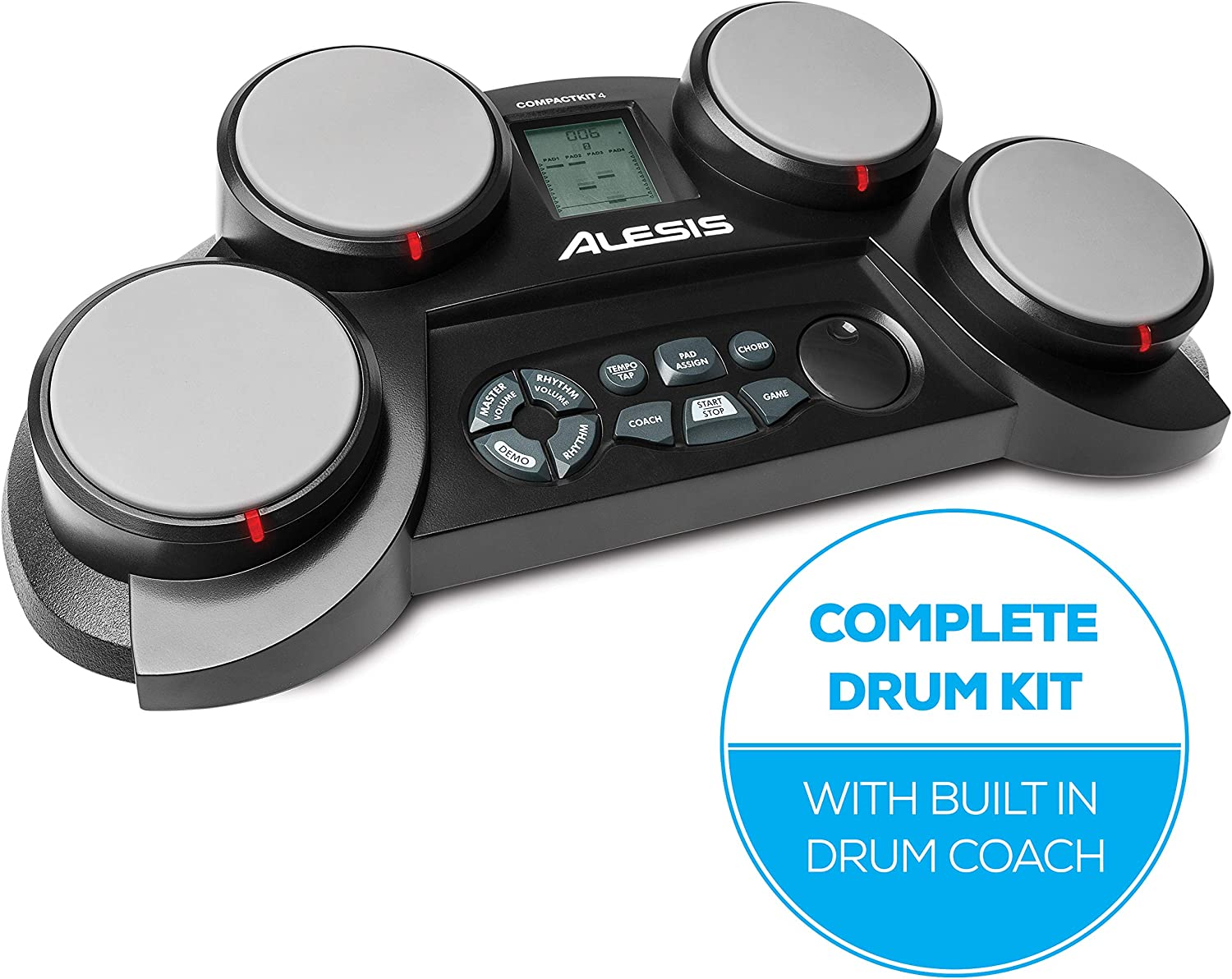 Alesis 4-Pad Electronic Drum set – Best for portability