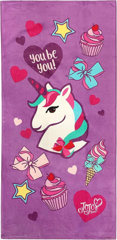 "Jojo Siwa Dreaming of Unicorns Cotton Beach Towel 28/"" x 58/"" New"