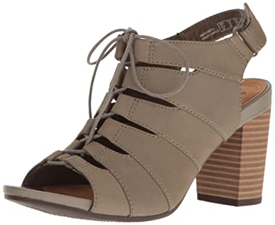 0e3657f39a4 CLARKS Women s Banoy Waneta Dress Sandal Sage Nubuck 5.5 ...