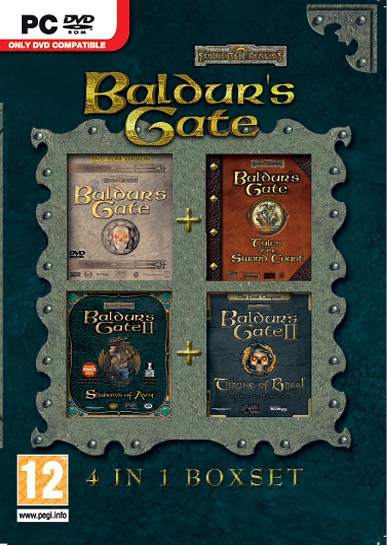 Baldurs Gate 4 In 1 Box Set Pc Dvd Video Games