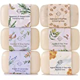 O Naturals 6 Piece Moisturizing Body Wash Bar Soap Collection. Hand Soap, Acne Soap 100% Natural Organic Ingredients…