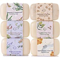 O Naturals 6 Piece Moisturizing Body Wash Bar Soap Collection. 100% Natural Made w/Organic Ingredients & Therapeutic…