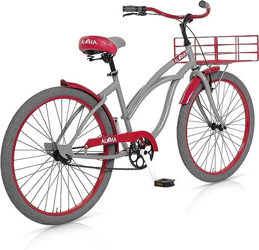 MBM Aloha - Bicicleta de Paseo para Mujer, Cuadro de Acero Talla ...