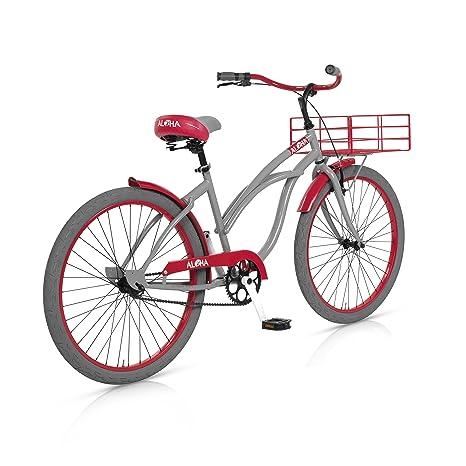 MBM Aloha - Bicicleta de Paseo para Mujer, Cuadro de Acero Talla 45, Freno