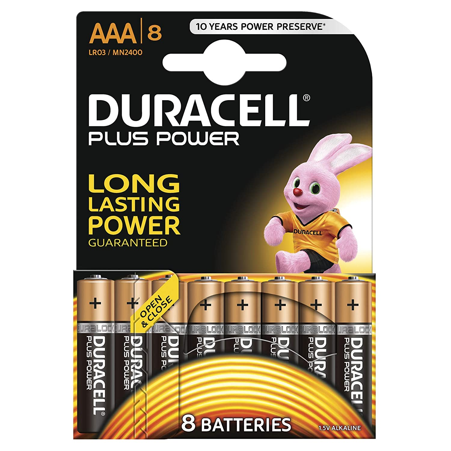 Duracell Plus Power Type Aaa Alkaline Batteries Pack Powering Led From Single Aa Cell Electronics