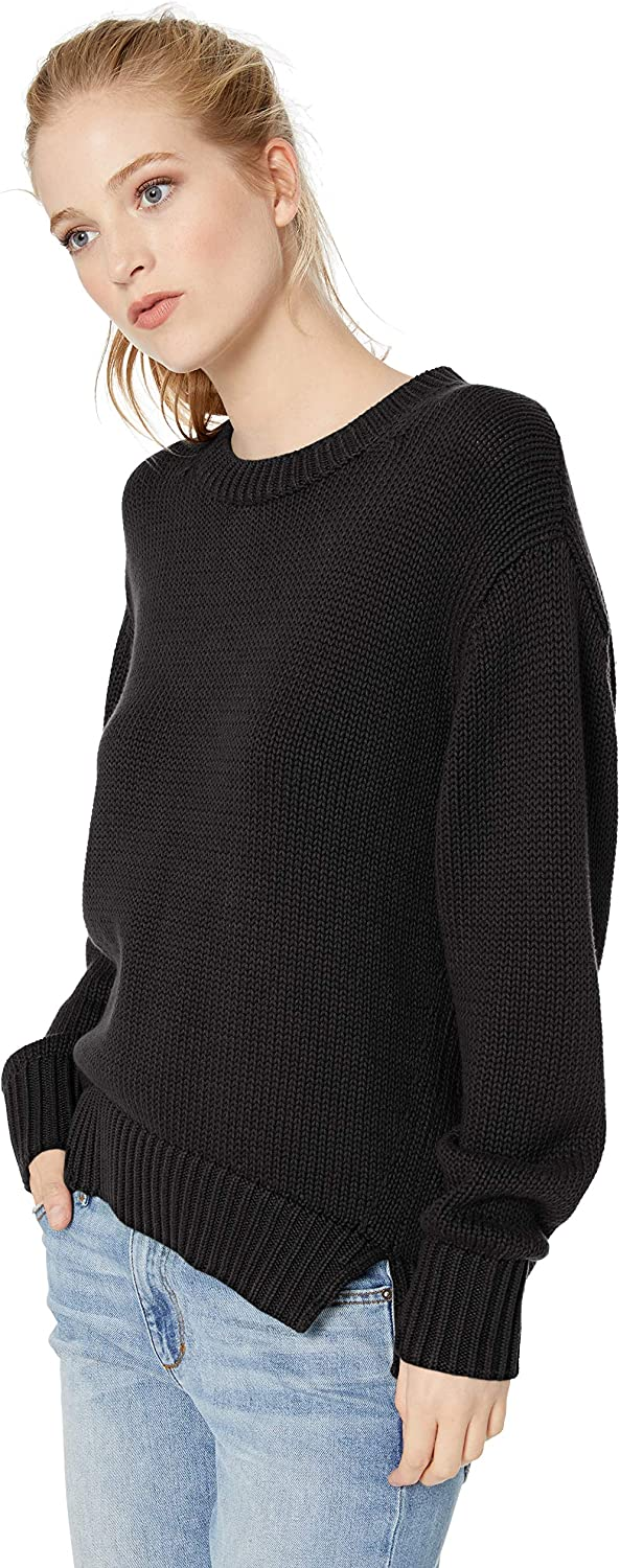 Bolden Women/'s Cozy Chunky-Knit Long Sleeve V-Neck Loose Casual Pullover Sweater