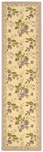 Safavieh Chelsea Collection HK54A Hand-Hooked Ivory Premium Wool Runner 2 6 x 12