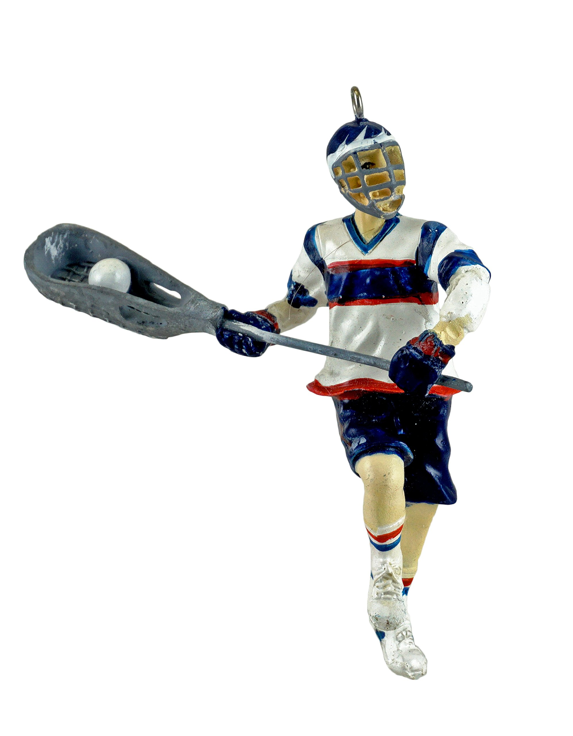 C&F Home Lacrosse Boy Player Hanging Sports Ornament