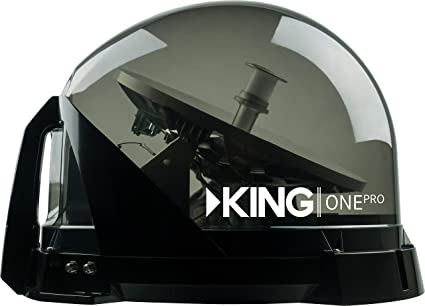 KING KOP4800 One Pro Premium Satellite TV Antenna-Works with Dish, DIRECTV,  or Bell (Canada)