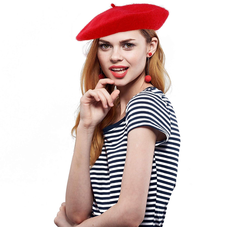 Skeleteen - Gorro Tipo Boina para Mujer, Estilo francés, Color ...