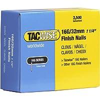 Tacwise 16G 32mm rechte Brad afwerking nagels voor nagelpistool (2500 doos)
