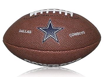 Wilson Football NFL Cowboys Logo Mini - Balón de fútbol americano (caucho), color marrón, talla Mini: Amazon.es: Deportes y aire libre