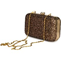 For The Beautiful You Party Wear Hand Embroidered Box Clutch Bag Purse For Bridal, Casual, Party, Wedding Women's Clutch