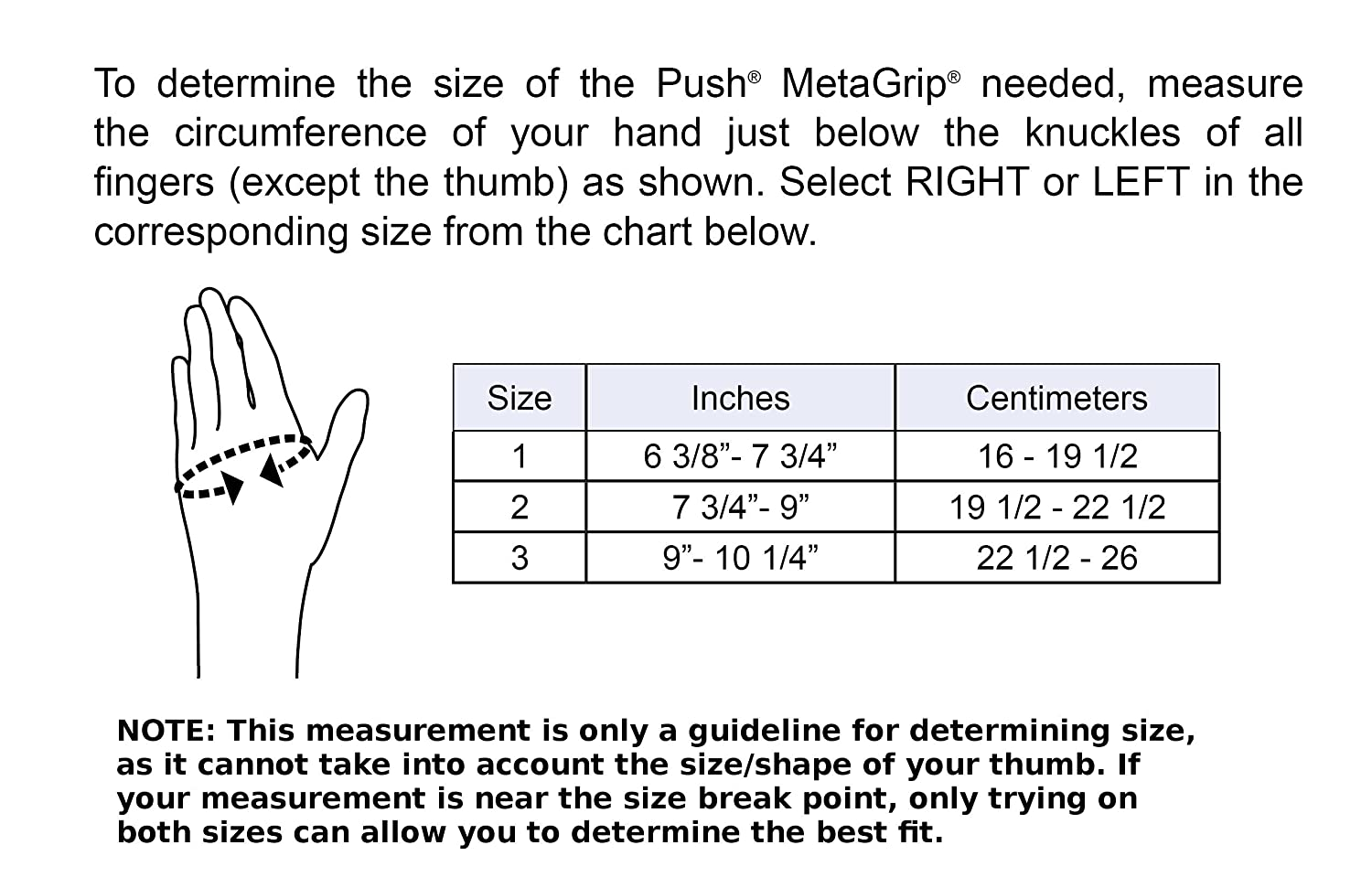 Amazon push metagrip left size 1 cmc thumb brace for relief of amazon push metagrip left size 1 cmc thumb brace for relief of osteoarthritis pain health personal care geenschuldenfo Gallery