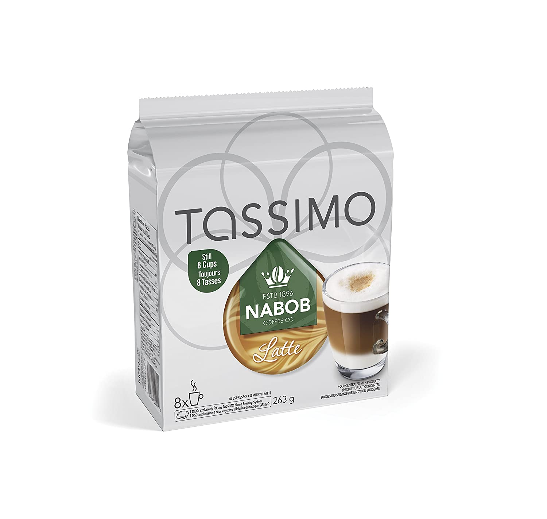 Amazon.com : NABOB Latte Coffee, 0.5 lbs, 8 Count : Grocery ...