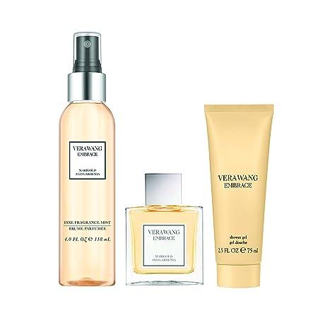 Vera Wang Embrace Marigold Gardenia 3pc Set – 1 oz Eau De Toillette Body Mist 4oz 2.5 oz Body Lotion