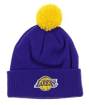 a4b3594e0e2 adidas NBA Youth s Los Angeles Lakers Cuffed Knit Pom Hat