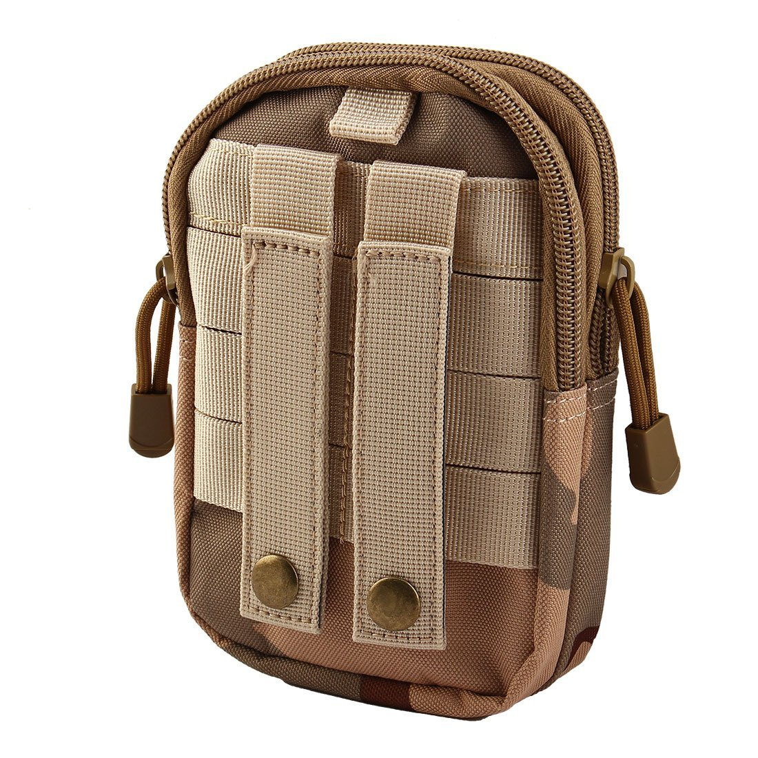 eDealMax Camouflage Print Nylon Sport Camping Chiusura a cerniera 2 Compartimento Della Penna del supporto del raccoglitore del sacchetto Della vita